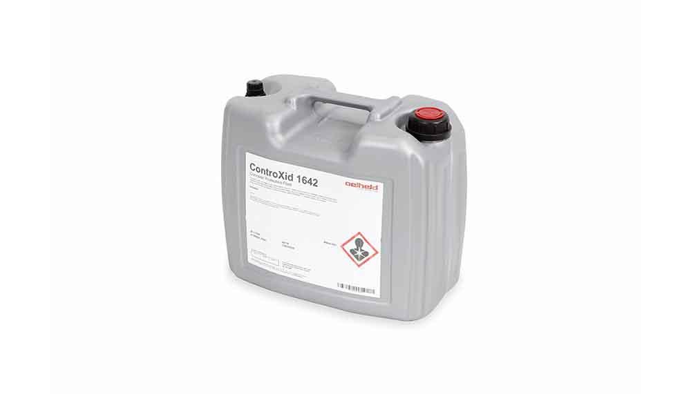 Tecnosystemek Oelheld ControXid 1642 olio hozgarriak eskaintzen ditu torlojua hozteko. Korrosioaren aurkako olio hozgarriak metalak ebakitzeko eta mekanizatzeko