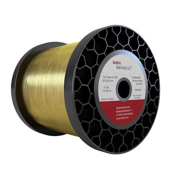Tecnosystem suministra hilo de latón Bercocut® pro 500 para electroerosión de la marca Bedra. Hilo blando de latón reforzado. Adecuado para corte cónico. Uso recomendado en todas las máquinas. Homologado para máquinas GFMS.