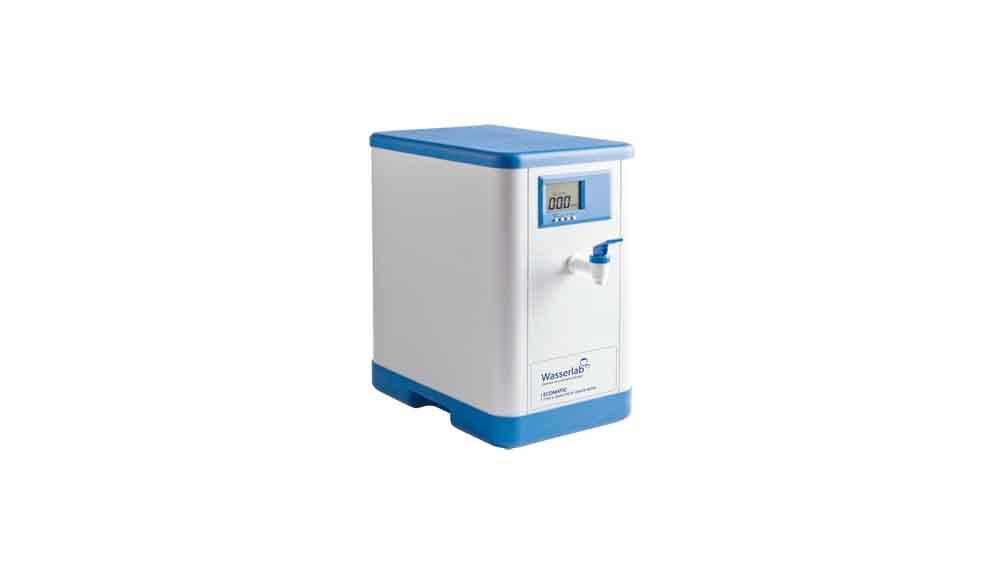 Tecnosystem suministra equipos de purificación de agua ECOMATIC de Wasserlab. El Ecomatic proporciona Agua Tipo II (Grado Analítico) y Agua Osmotizada de especificaciones ASTM D1193 e ISO 3696