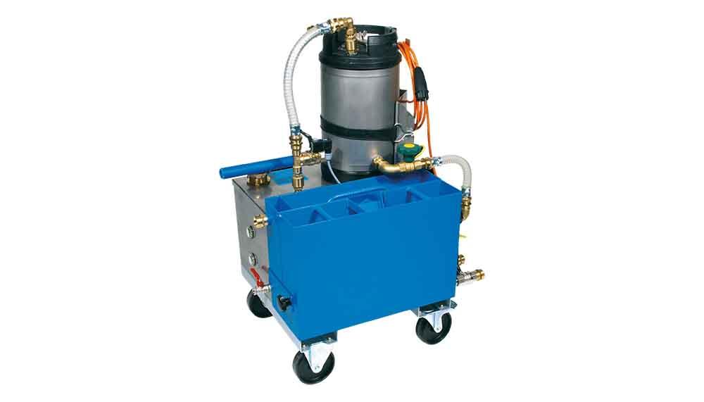 Suministramos separadores de aceites contaminantes Müller Gerätebau, el 5040 es compacto y móvil, tanque de 15 litros, extracción de  35 aceite litros de aceite por hora