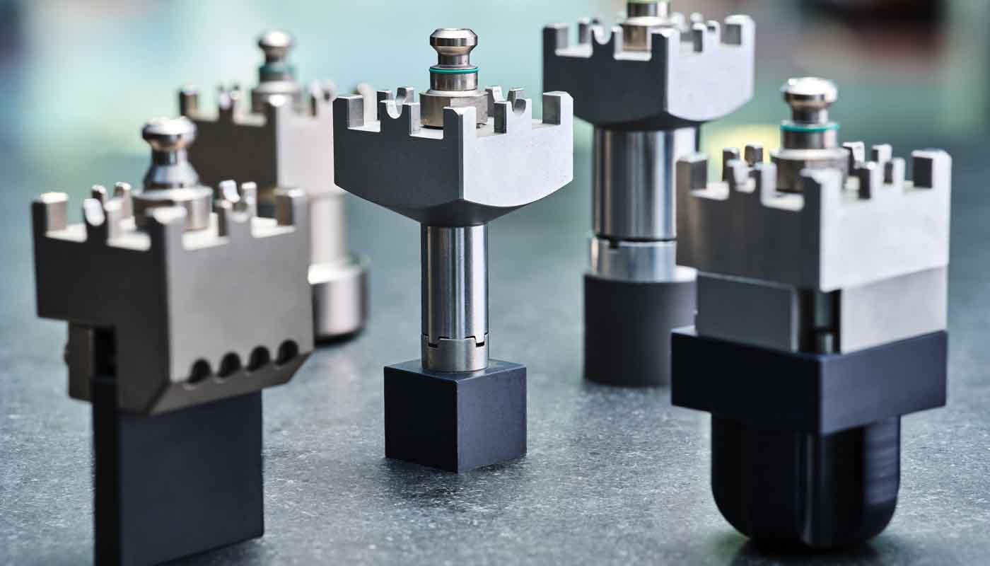 Tecnosystem suministra sistemas de sujeción y paletización Carl Hirschmann 5000, facilita un rápido y preciso amarre de los electrodos y piezas en máquinas de electroerosión por penetración y para su mecanización en fresadoras