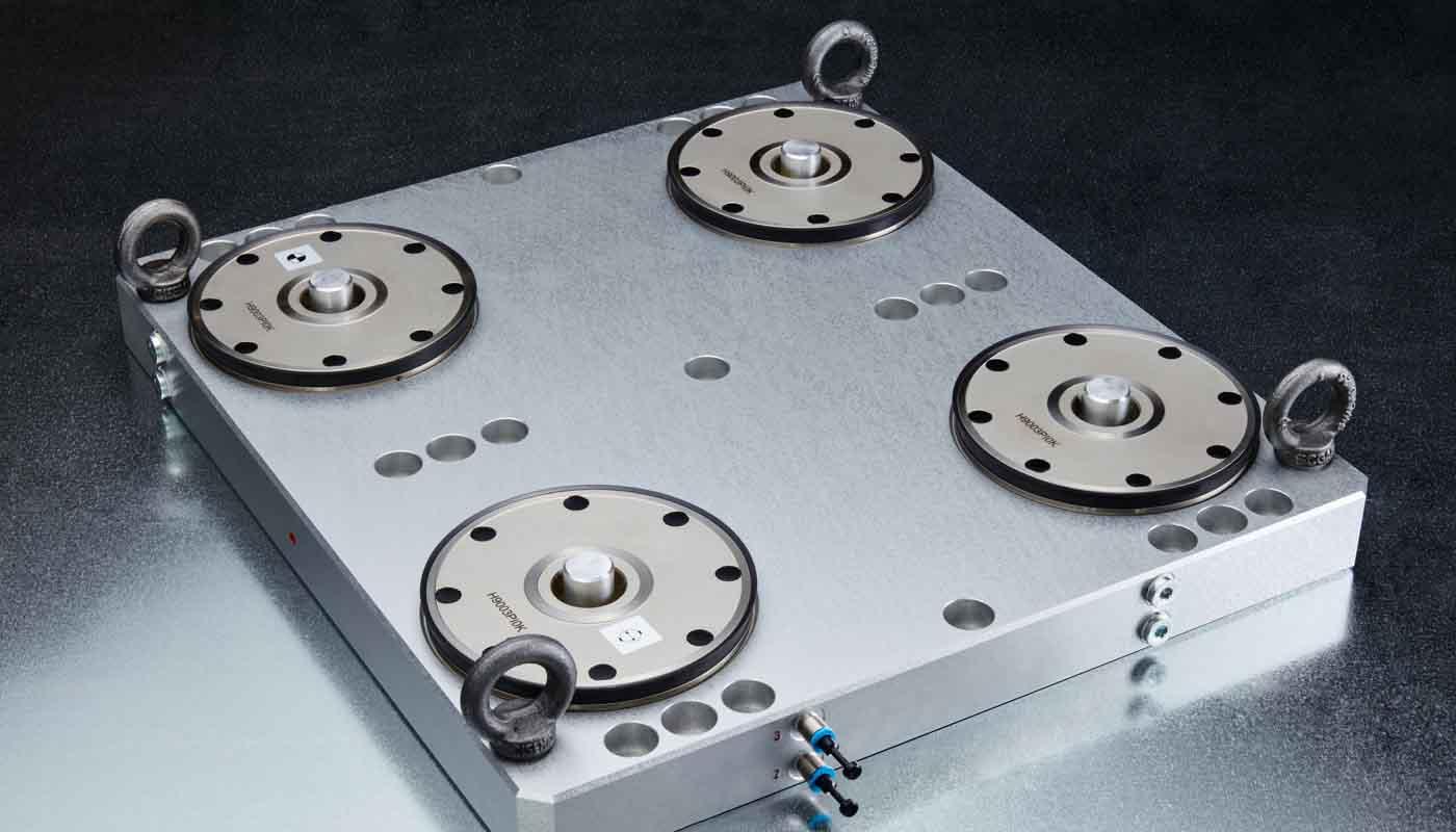 Tecnosystem suministra sistemas de sujeción y paletización Carl Hirschmann 9000, realiza en segundos con el punto cero exactamente definido, sin adición de errores causados por atar, soltar y reatarlas de máquina a máquina
